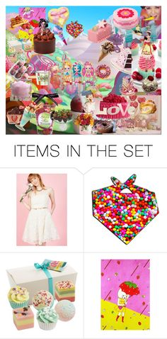 """Sweet Candyland"" by jazzmingermany ❤ liked on Polyvore featuring art"
