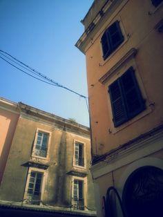 corfu town Corfu Town, San Francisco Ferry, Building, Travel, Vintage, Viajes, Buildings, Destinations, Traveling