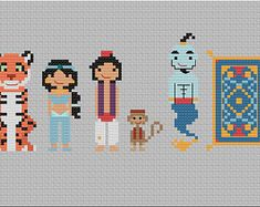 Your favorite characters in form. by TheThreadHeadz on Etsy 8 Bit, Your Favorite, Etsy Seller, Cross Stitch, Disney, Creative, Fictional Characters, Art, Embroidery
