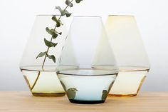 Dette er årets farger! | Hadeland Glassverk Vilje vases designed by Nora Krogh