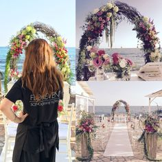 #boho #wedding at#sea #weddingdecor #weddingparty #bride #bridesmaid #groom #flowers #flowers #floweroftheday #floraldesign #flowerdesign #weddingflowers #weddinginitaly #weddinginrome #bohemian #bohochic #bohostyle #arch