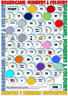 Board Game: Numbers & Colours