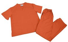 M&M Scrubs Women Scrub Set Medical Scrub Top and Pants XL Burgundy 3 Pocket Top - Side Slits with Set-In Sleeves One Chest with Two Lower Pockets Two Front with Cargo Pocket Pants Back Elastic Front Drawstring Pants Size Runs Large Discount Scrubs, Cheap Scrubs, Black Scrubs, Womens Scrubs, Medical Scrubs, Scrub Sets, Elastic Waist Pants, Orange Is The New Black
