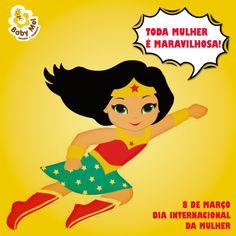 Mulher é maravilha. ❤️ Feliz Dia Internacional da Mulher a todas que fazem parte da nossa #FamíliaBabyMel!