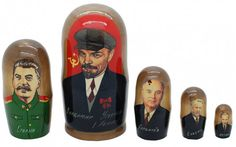 5-piece #Russian nesting doll set from Lenin to Putin