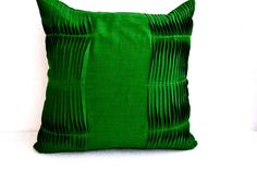 Decorative cushion  Emerald Green pillow cover by AmoreBeaute, $19.00