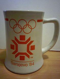 Sarajevo 1984 Winter Olympic Games Mug / beer Stein - Wallace Berrie #WallaceBerrie