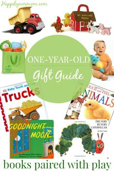 Pair books with toys for the best one year old gift this year - perfect for a birthday party gift or a holiday gift. I love that these books will last well beyond the baby years!
