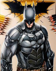 Color pencil drawing of Batman from DC Comics world done by Lundi Gleissner Batman Drawing, Batman Artwork, Drawing Drawing, Drawing Tips, Batman Vs Superman, Batman Arkham, Comic Books Art, Comic Art, Marvel Dc