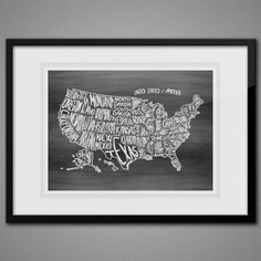 Stop by and grab your free chalkboard map of the USA!