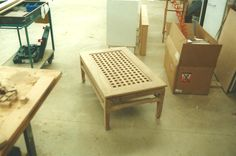 Table with slats fitted in...