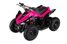 The Kids' ATV Mars Quad by Go-Bowen is a four-wheeled, off-road vehicle perfect for road-ready amateurs who wants to move up their adrenaline-filled thrill ride on adventures. This mini all-terrain vehicle is versatile enough to handle rough terrains like mud, wet grass, dirt, and gravel. Definitely, it's a fantastic youth ATV!
