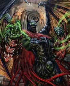Here's a fan art of Nightmare Spawn from Mcfarlane toyline. Comic Book Characters, Comic Books Art, Comic Art, Spawn Comics, Marvel Dc Comics, Dark Comics, Marvel Avengers, Image Comics, Fun Comics
