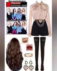 Credits to: abratasas🐰🐰🐰 Korean Outfits Kpop, Kpop Fashion Outfits, Blackpink Fashion, Stage Outfits, Japan Fashion, Korean Fashion, Casual Outfits, Girl Outfits, Cute Outfits