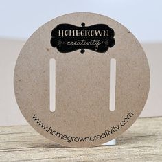 Custom Circle Hair Bow Display Cards Packaging by HomegrownGems