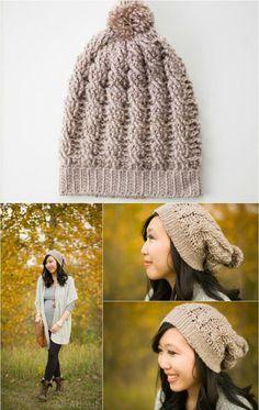 Crochet Slouchy Beanie - 10 Free Crochet Patterns for Slouch Hat   101 Crochet
