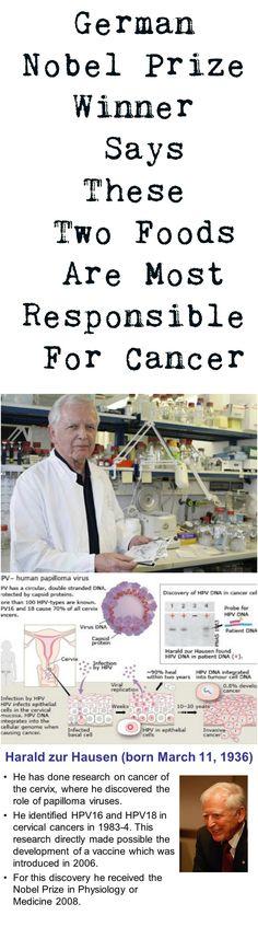 #Nobel #Prize #Winner #German #Germany #Food #Responsible #Cancer