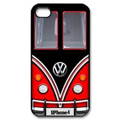 red black VW VOLKSWAGEN Camper kombi mini Van - iPhone case