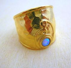 Natural Opal   Gold Ring 14K Gold filled Hand Made