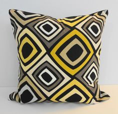 Black Geometric Decorative Pillow Cover