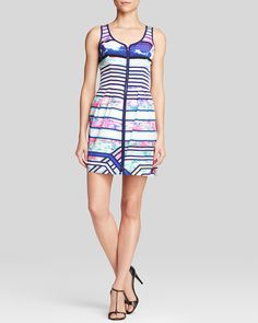 Amanda Uprichard Dress - Conversation Cloud Print Silk   Bloomingdale's