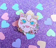 Sweet Jiggly Jigglypuff Pokemon Hard Enamel Pin by StudioSugarKitten on Etsy