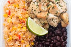 This Cilantro Lime Chicken & Veggie Rice Meal Prep Will Keep You On Track All Week