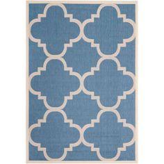Safavieh Courtyard Becky Power-Loomed Indoor/Outdoor Area Rug or Runner, Blue