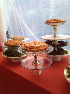 pie bar from Red Truck Bakery Fox Wedding, Tiered Cakes, Bakery, Truck, Pie, Torte, Cake, Trucks, Fruit Cakes