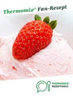 Erdbeer-Raffaello-Eis von Thermofe. Ein Thermomix ® Rezept aus der Kategorie Desserts auf www.rezeptwelt.de, der Thermomix ® Community.