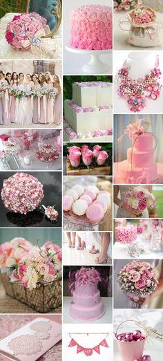 Pink wedding theme.