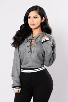 Getting Colder Top - Heather Grey Cute Casual Outfits, Stylish Outfits, Girl Outfits, Fashion Outfits, Womens Fashion, Look Fashion, Autumn Fashion, Mode Style, Style Me