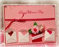 This card I used the Petal Card Ex Lg double punch and embellishments from the new Artisan emb. kit in the new Spring catalog.  Hearts were punched with the small heart punch.  The background hearts were the hearts embossing folder in the 2012-13 Idea Book & Catalog.