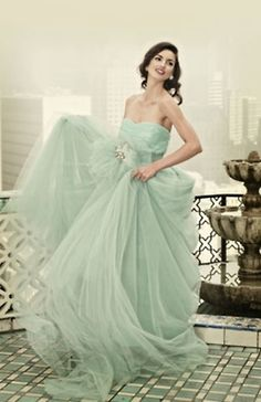 If I didn't already pick my bridesmaid dresses, I would have picked this mint ballgown