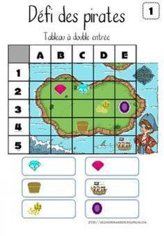 "Défis ""Explorer le monde : espace et temps"" Plus Pirate Preschool, Pirate Activities, Preschool Games, Computational Thinking, Montessori Math, Math School, Pirate Theme, Math For Kids, In Kindergarten"