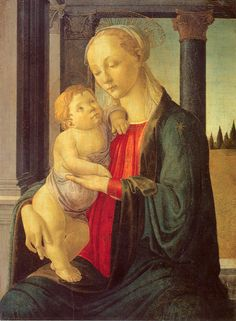 Мадонна с младенцем (ок.1470). Sandro Botticelli (1445-1510)