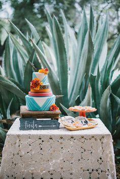 Spanish-styled wedding cake