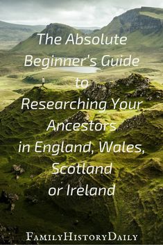 The Absolute Beginner's Guide to UK and Irish Genealogy Research Does your ancestry lead you back to England, Ireland, Scotland or Wales? Use this genealogy beginner's guide get started researching your British Isles ancestors today and grow you Free Genealogy Sites, Genealogy Search, Family Genealogy, Free Genealogy Records, Genealogy Quotes, Genealogy Forms, Family Roots, All Family, Family Trees