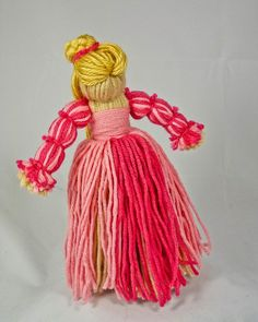 yarn dolls | Thrum Doll - Princess Aurora - Fairytale Collection. $16.00, via Etsy.