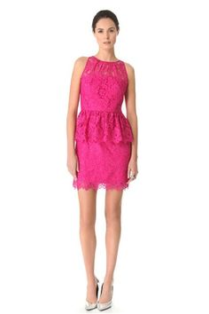 peplum dress hot pink