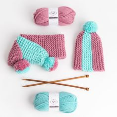 Knitters of Tomorrow - Children's Knitting Kit - Stitch & Story UK Knitting Kits, Knitting Needles, Knitting Patterns, Online Tutorials, Video Tutorials, Cast Off, Easy Projects, Thoughtful Gifts, Knitted Hats