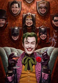 Brian Bolland's 'Joker trophy wall' brought to unsettling life