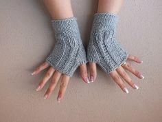 eldiven, örme eldiven, parmaksız eldiven, gri eldiven, bilek ısıtıcıları, kadın, el ısıtıcıları, Sevgililer günü hediyeleri, ücretsiz gemi 2014
