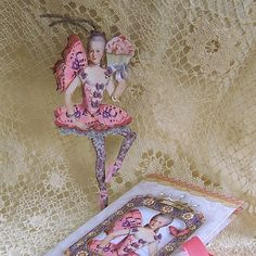 Marie Antoinette Printable Paper Doll, Butterfly Ballerina Doll With Tutu, Cupcake Digital Files For Paper Crafts CS9D