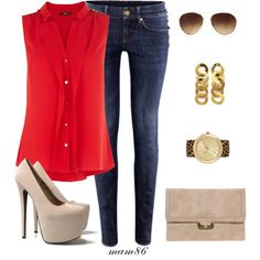 """""""Pop of Red"""" by midwest-meg86 on Polyvore"""