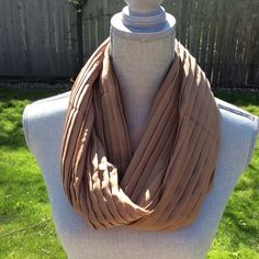 Accessories - NWOT Pleated Camel Infinity Scarf