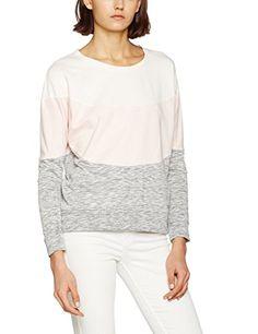 Mavi Striped Sweatshirt, Felpa Donna, Weiß (Antique White 22937), XL