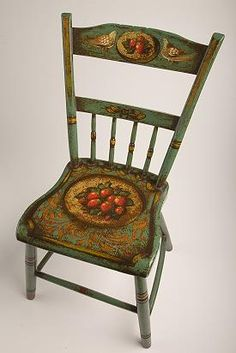 New England straight back chair painted by Peter Ompir.