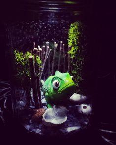 Jarre lumineuse Pascal ! 💡🐊 #jarre #pascal #lumiere #raiponce #princesseraiponce #reponzel #cameleon #disney #light #deco #decoenfant #child #childroom #photophore #baby #chambrebebe #chambreenfant #babyshower #babyroom #childdesign #design #mousse #terrarium #littleworld 👍#lapetitefabriquechloesakura on facebook.