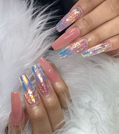 Feb 2020 - 18 birthday nails art design that make your queen style 10 Aycrlic Nails, Swag Nails, Hair And Nails, Coffin Nails, Birthday Nail Art, Birthday Design, Fire Nails, Best Acrylic Nails, Fancy Nails